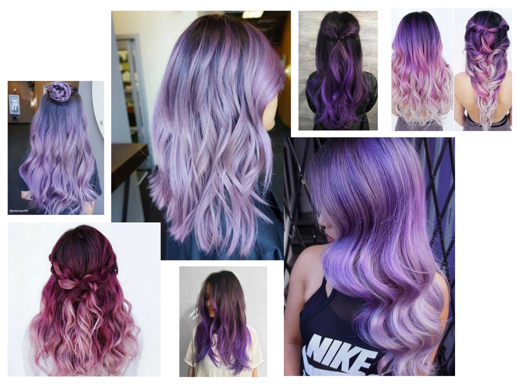 Fioletowe ombre