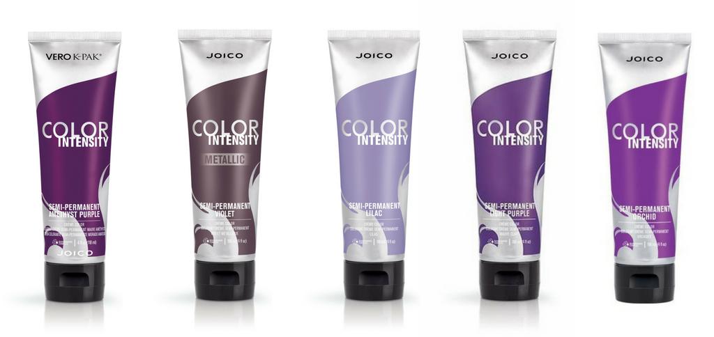 Light Purple, Orchid, Amethyst Purple, Violet z kolekcji Metallic, Lilac z kolekcji Confetti.