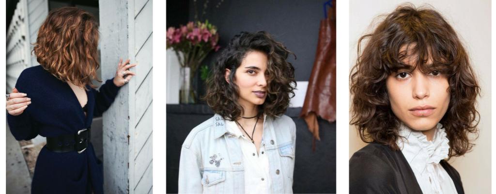 Kręcone włosy do ramion - fryzury