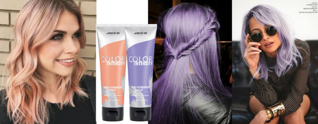 Peach i Lilac - kolory tymczasowe dla włosów