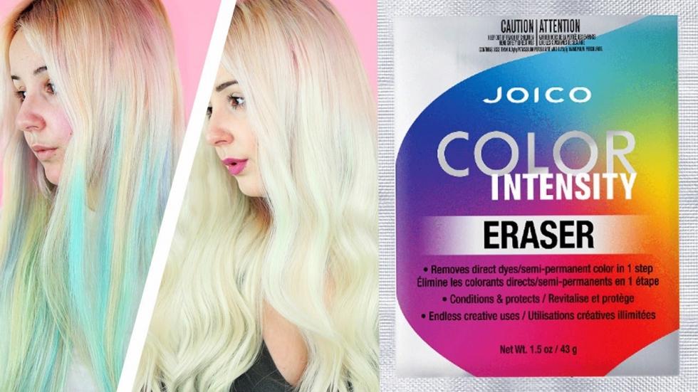 Zmywanie farb z Joico Eraser