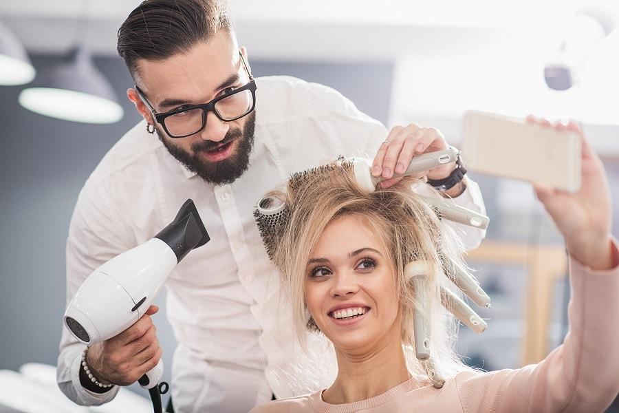 salon fryzjerski, promocja na instagramie